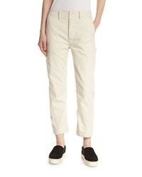 Vince Carpenter Cropped Chino Pants White