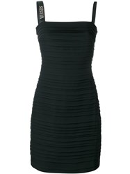Versus Ribbed Fitted Dress Black