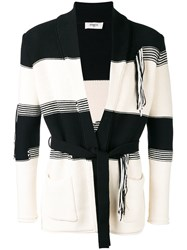 Ports 1961 Tie Front Chunky Cardigan Black