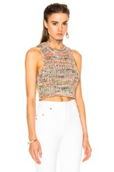 Acne Studios Zelia Knit Top In Abstract Brown Pink Abstract Brown Pink
