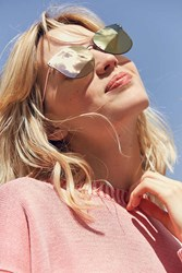 Urban Outfitters Downtown Rimless Cat Eye Sunglasses Blush