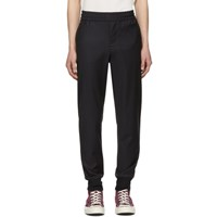 Paul Smith Ps By Navy Wool Drawcord Trousers