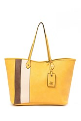 Steve Madden Starlet Oversized Faux Leather Tote Bag Mustard