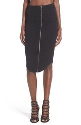 Women's Leith Ribbed Zip Front Tube Skirt