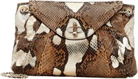 Zagliani Python Claudia Small Shoulder Bag Gold