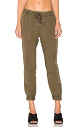 Pam And Gela Lace Up Closure Pant Army