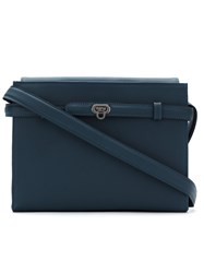 Mara Mac Leather Panelled Shoulder Bag Blue