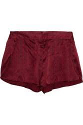 Stella Mccartney Ellie Leaping Printed Stretch Silk Pajama Shorts Red