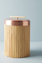 Anthropologie Metalwood Canister Copper