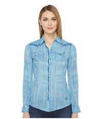 Ariat Ombre Fitted Snap Multi Women's Long Sleeve Button Up