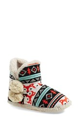 Women's Kensie Fair Isle Faux Shearling Slipper Boot