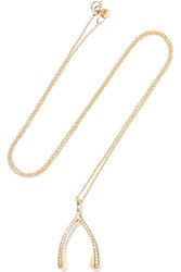 Jennifer Meyer Wishbone 18 Karat Gold Diamond Necklace One Size