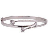 Jools By Jenny Brown Overlapping Cubic Zirconia Hinged Bangle