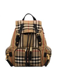 Burberry Small Vintage Check Backpack Neutrals