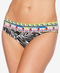 Jag Tropical Palm Retro Hipster Bikini Bottoms Women's Swimsuit Black