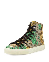 Gucci Bengal Canvas High Top Sneaker Multicolor