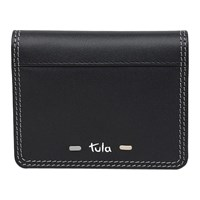 Tula Violet Leather Small Card Holder Black