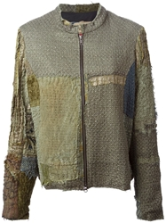 By Walid Embroidered Jacket Green