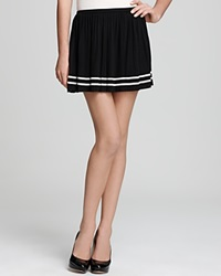 Juicy Couture Pleated Knit Skirt Black Combo