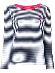 Paul Smith Ps By Striped Dinosaur Logo Jersey Top Blue