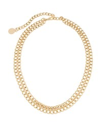 Neiman Marcus Double Swag Chain Belt Gold