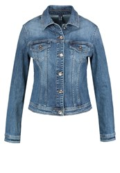 Liu Jo Jeans Denim Jacket Restless Wash Blue Denim