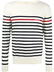 Moncler Striped Long Sleeve Jumper Black