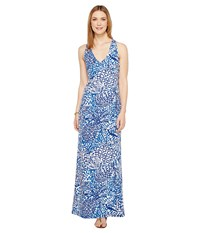 Lilly Pulitzer Kerri Maxi Dress Indigo Home Slice Women's Dress Blue