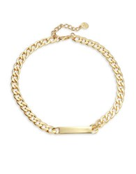 Rj Graziano Id Chainlink Necklace Gold