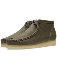 Clarks Originals Wallabee Boot Dark Green Leather
