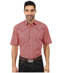 Stetson Italia Print On Poplin Red 1 Men's Long Sleeve Button Up