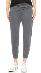Stateside Fold Over Slouchy Pants Charcoal