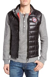 Canada Goose Men's 'Hybridge Tm Lite' Slim Fit Packable Quilted 800 Fill Down Vest Red Black