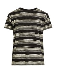 Saint Laurent Mexican Skeleton Print T Shirt Black Multi
