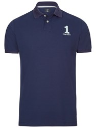 Hackett London New Classic Number Polo Shirt Navy