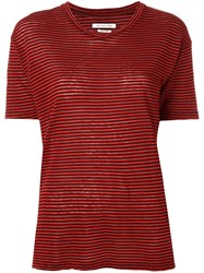 Etoile Isabel Marant Striped T Shirt Red