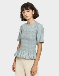 Creatures Of Comfort Norris Blouse In Stone