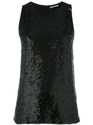 P.A.R.O.S.H. Sequin Embellished Tank Top Women Viscose Pvc Xs Black