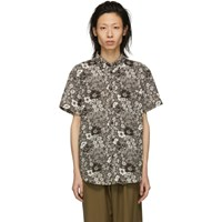 Acne Studios Brown And White Isherwood Shirt