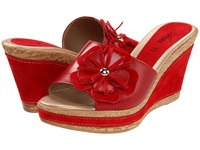 Spring Step Narcisse Red Leather Women's Wedge Shoes