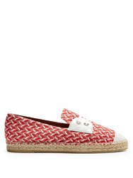 Missoni Mare Zigzag Knit Espadrilles Red Multi