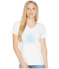 Life Is Good Crusher Vee Happiness Home Cloud White T Shirt