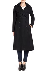 French Connection Women's Long Wool Blend Coat