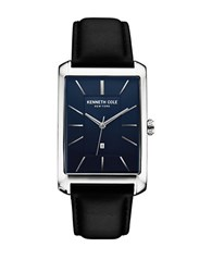Kenneth Cole Mens Stainless Steel And Leather Watch