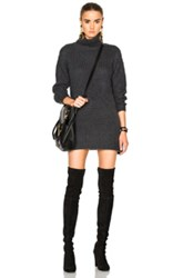Michelle Mason Sweater Dress In Gray