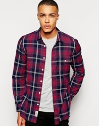Jack Wills Glazebrook Flannel Shirt Purple