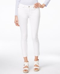 Eileen Fisher Slim Fit White Wash Ankle Jeans