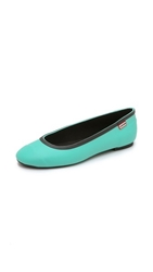 Hunter Original Tour Ballerina Flats Tourmaline Green