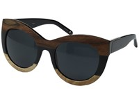 3.1 Phillip Lim Pl154c1sun Black Wood Silver Bang Bang Black Fashion Sunglasses Brown