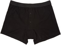 Comme Des Garcons Black Button Fly Boxer Briefs